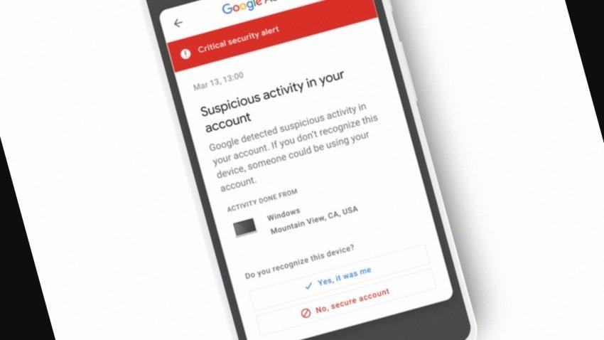 Google cria novo sistema notificações contra invasões de contas