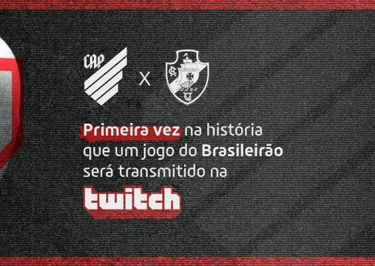 Athletico-PR terá jogo contra Vasco transmitido na plataforma Twitch